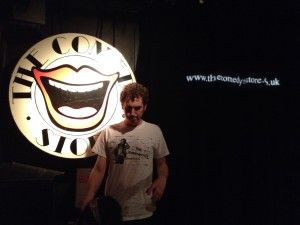 Comedian Trevor Hill The Substantive Springsteen t-shirt Comedy Store London