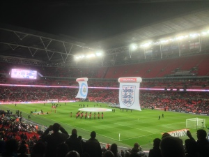 England empty seats at Wembley Stadium